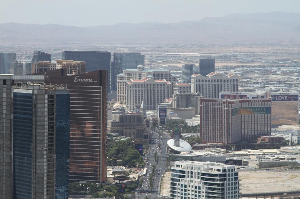 Uitzicht over Vegas