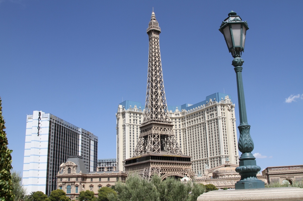 Uitzicht op de Eiffel toren vanaf Bellagio hotel