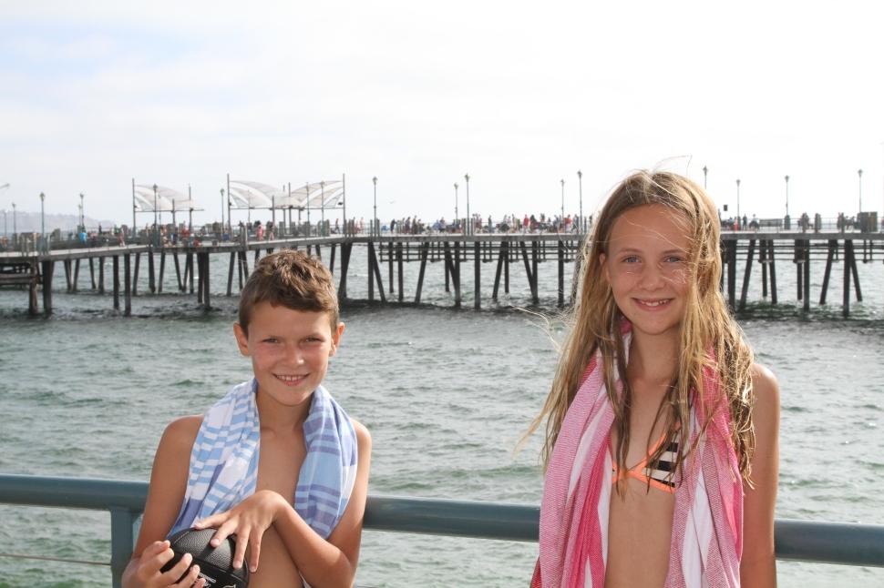 Bij de pier van Redondo Beach