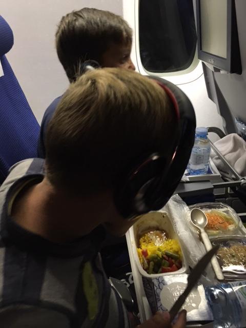 Eten en film kijken tegelijk