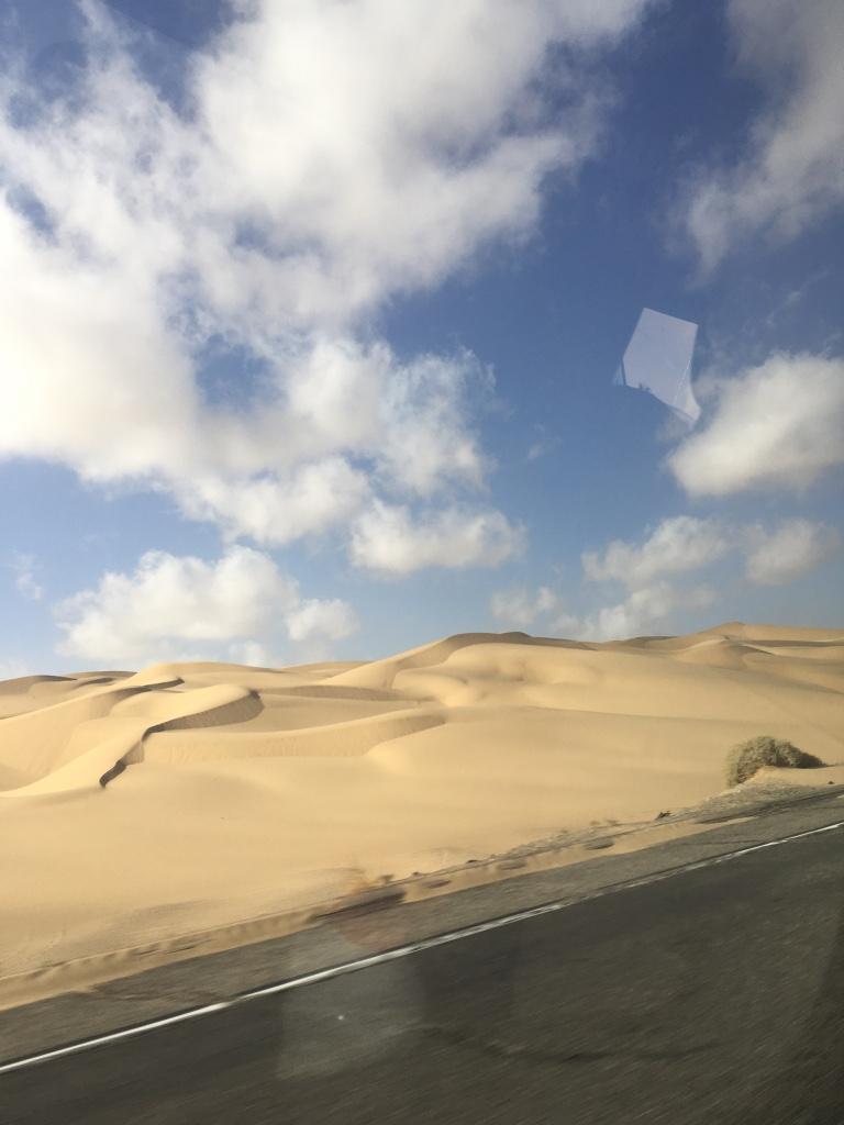 Dwars door het woestijnlandschap