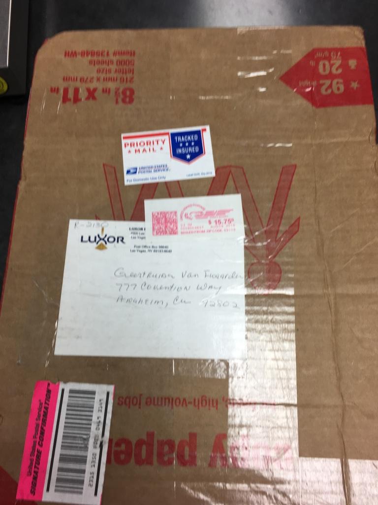Pakket uit Las Vegas