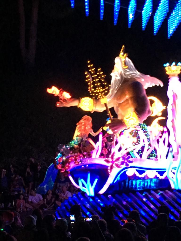De kleine zeemeermin - tijdens de parade