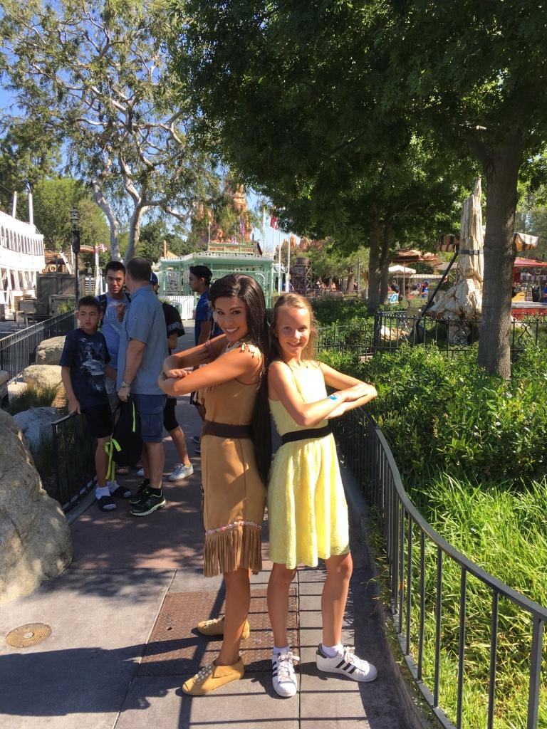 Op de foto met Pocahontas