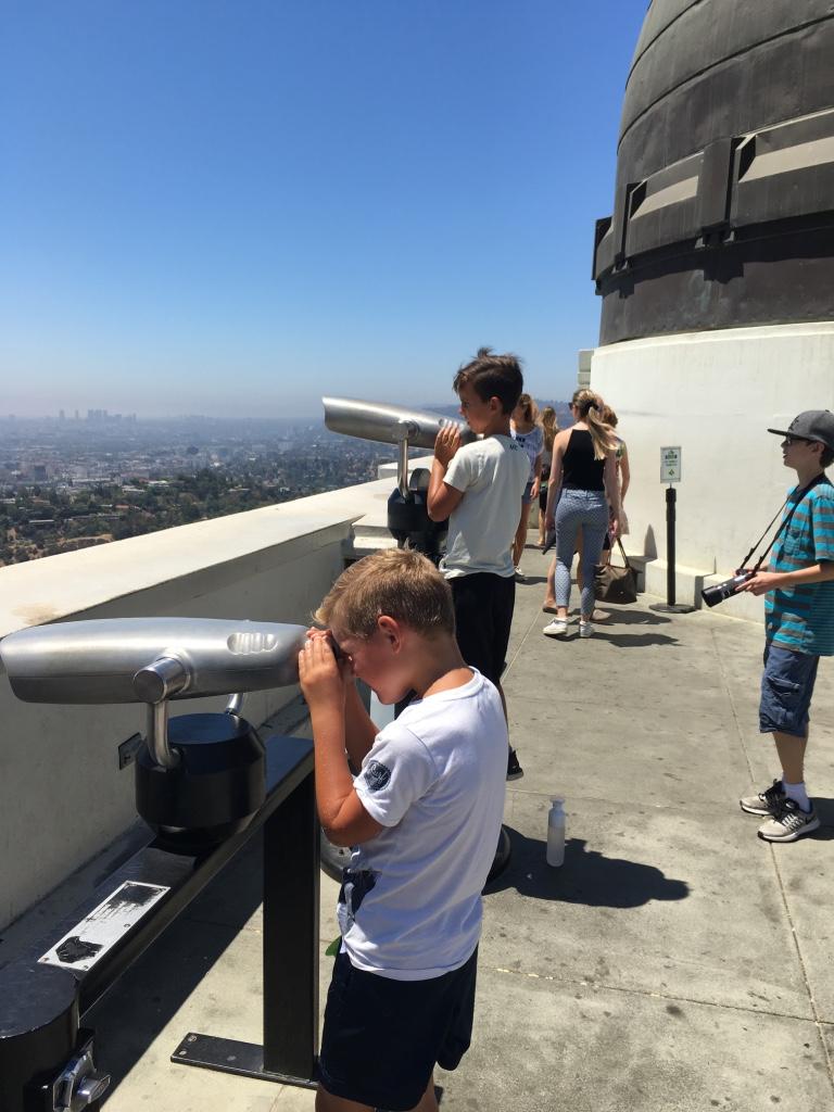 Op het balkon bij het observatorium