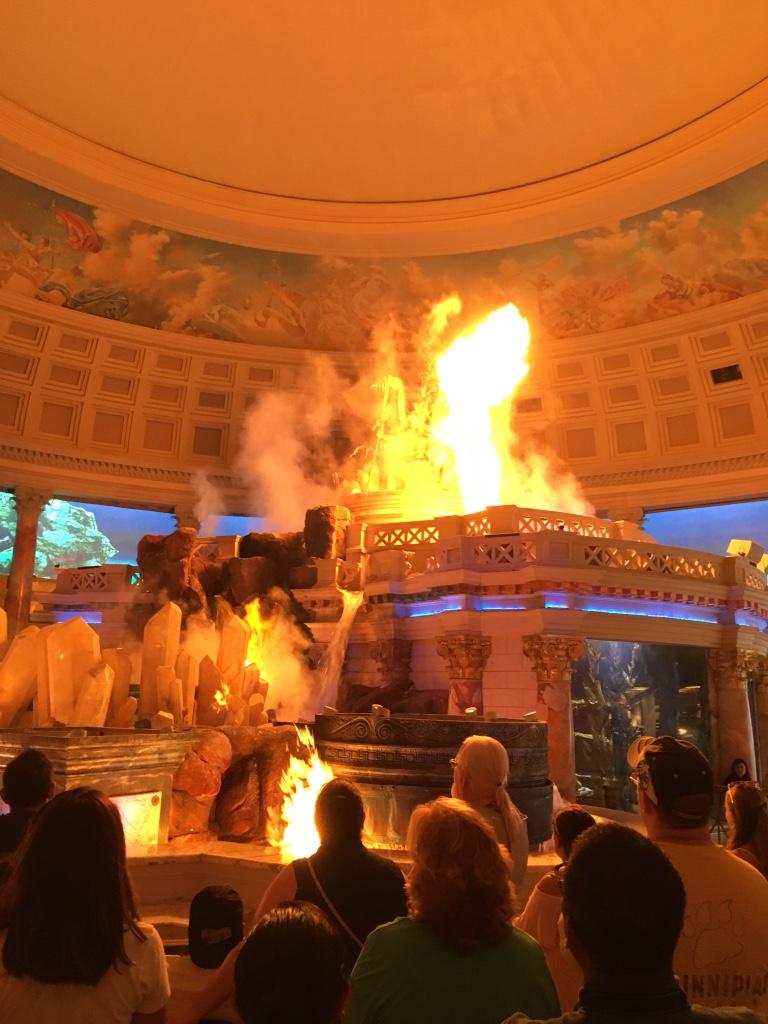 Neptunus show met vuur