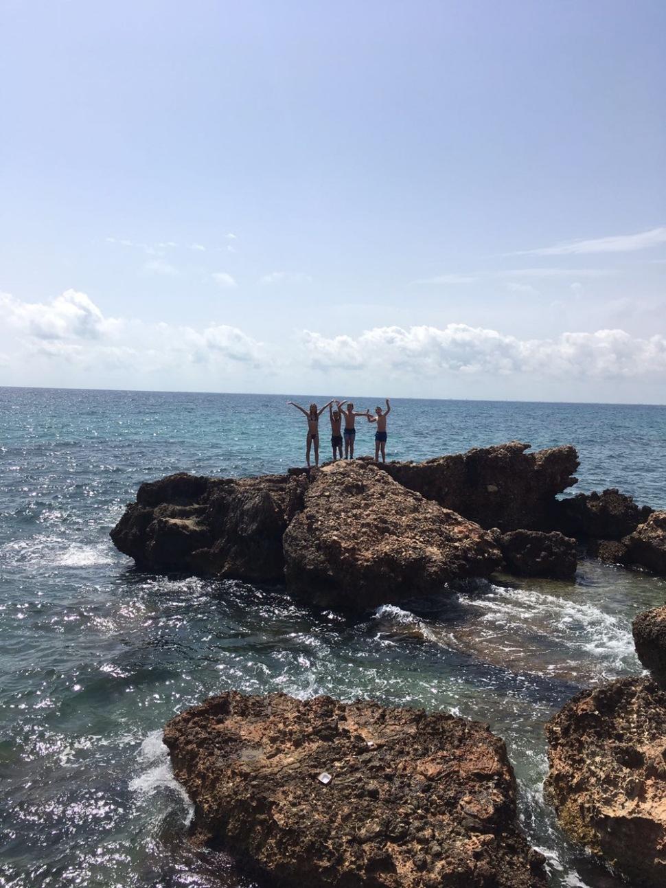 Op rotsen klimmen verveeld nooit